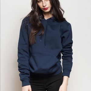 Navy Blue Basic Hoodie w Pockets
